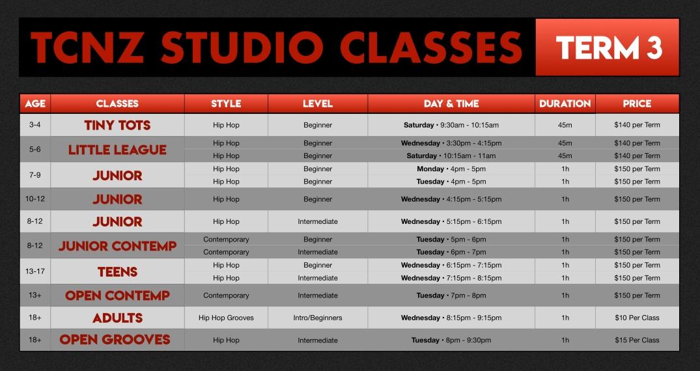 TCNZ Studio Timetable (blk) T3